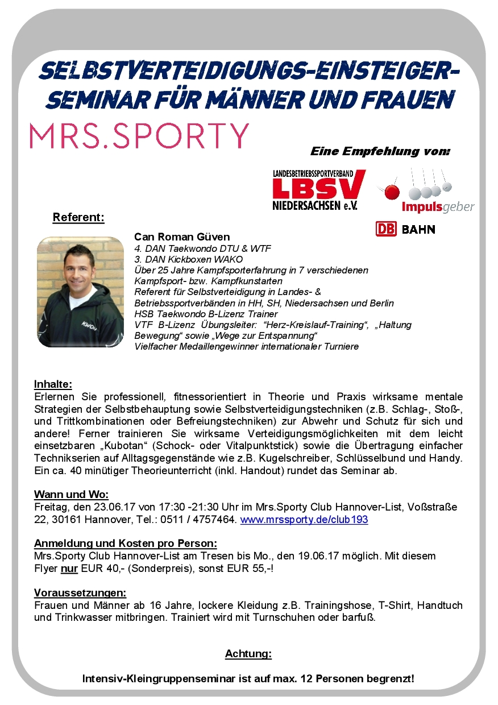 Flyer_SV-Seminar_23.06.17_Sporty_Hannover-List_Sonderpreis